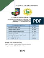 Informe N° 2 de Esfuerzo de Corte curso Resistencia de Materiales en la Industria Alimentaria