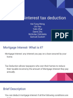 Mortgage interest tax deduction. Cons