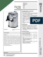 Vegetable Peeler - 5kg with abrasive plate_English_601218_Italian