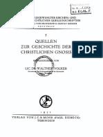 Walther Völker - Quellen Zur Geschichte Der Christlichen Gnosis (1932)