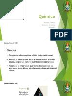 QG Clase 3 números cuánticos, distribución electrónica diapositiva