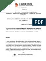 DRAMATURGIA DO PERTENCIMENTO