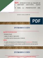 SESION II INTRODUCCION, DATOS GENERALES