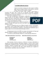 LOS PRINCIPIOS DE JUEGO ACTUALIZADO