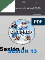 SESION 13 - PROCESADOR DE TEXTO