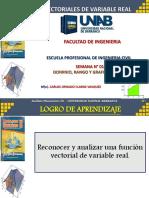 SEMANA N° 01 - FUNCIONES VECTORIALES
