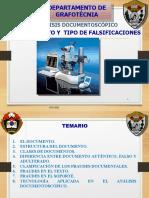Exposición El Documento y Los Tipos de Falsificación