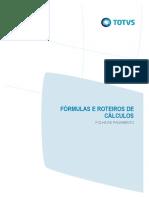 Fórmulas e Roteiro de Cálculos - Folha de Pagamento