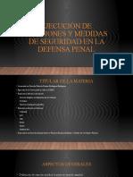 PRESENTACIÓN PDF CLASE 1 Ejecución de sanciones y medidas de seguridad