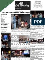 WHM Weekly Newsletter - 26 December 2010