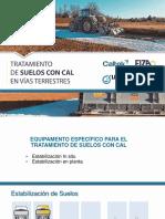 Equipamento específico para tratamiento de suelos con Cal