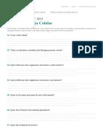 REVISÃO - BIOLOGIA CELULAR