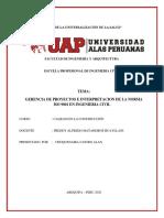 GERENCIA PROY E ISO 9001-INFORME