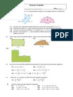 Ficha de Trabalho-Equações