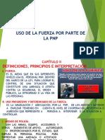 USO DE LA FUERZA DE LA PNP
