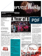 WHM Weekly Newsletter - 2 January 2011