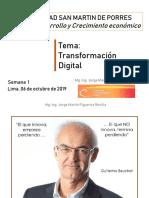 TRANSFORMACION DIGITAL SEMANA 1 (06-10-19)