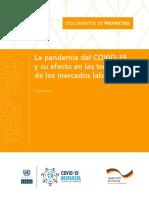 La pandemia del COVID-19 y su efecto en las tendencias de los mercados laborales