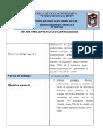 INFORME FINAL DE PROYECTOS ESCOLARES 2020000