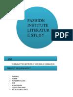 FASHION INSTITUTE LITERATURE STUDY