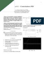 Práctica 9.1 – Controladores PID (1)