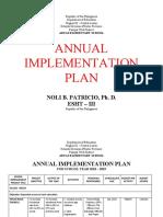 annual improvement plan