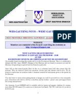 Wes-Gauteng-nuusbrief 2011-01