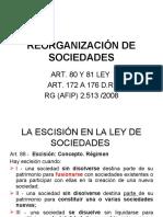 2020 GANANCIAS REORGANIZACIÓN DE SOCIEDADES