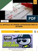 S15- Artículo de opinión- Estrategias para su revisión