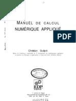 Calcul Numérique Appliqué - Maths - Algorithme (Édition Edp Sciences)