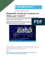 Rammstein cancela sus conciertos en México por Covid-19 (1)