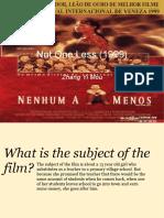 Film - Sherise & Kazia's Zhang YiMou Cinematography Presentation