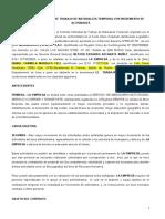 CONTRATO SUJETO A MODALIDAD POR NECESIDADES - MODELO 2020