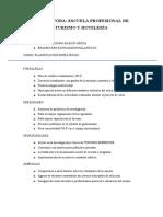 MATRIZ FODA DEL PROGRAMA DE TURISMO Y HOTELERÍA