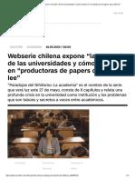 """Webserie Chilena Expone """"La Muerte"""" de Las Universidades y Cómo Mutaron en """"Productoras de Papers Que Nadie Lee"""""""