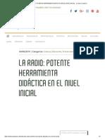 LA RADIO_ POTENTE HERRAMIENTA DIDÁCTICA EN EL NIVEL INICIAL - La Otra Campana
