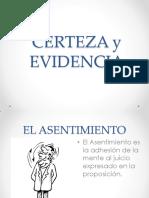 Certeza y evidencia