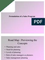 Formulation of Sales Program
