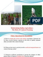 Indian Agriculture and Contract Farming - For Exam