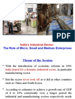 India's Industrial Sector - Role of MSMEs
