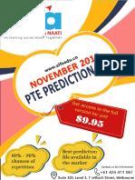 ALFA's PTE Prediction (Nov 19) Avi