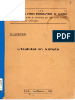 H. Genevoix, l' habitation kabyle, FDB, Fort-National, 1962 - Ayamun