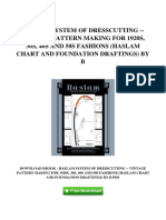 [W564.Ebook] PDF Ebook Haslam System Of Dresscutting Vintage Pattern Making For 1920s 30s 40s And 50s Fashions Haslam Chart And Foundation Draftings By B