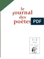 Deux poèmes de Catherine Boudet dans le Journal Des Poètes 2014