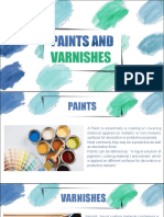 PAINTS AND VARNISHES ASSIGNMENT