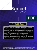 Section 4 - Joint and Solidary Obligations