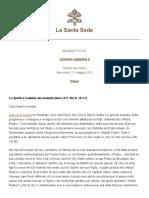 Lo Spirito e l'abba dei credenti - Benedetto XVI