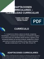 Flexibilizacion  curricular Modificada