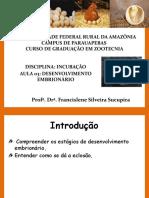 Aula 03 - Desenvolvimento embrionário