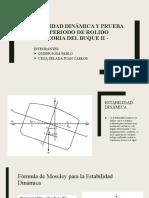 ESTABILIDAD DINÁMICA Y PRUEBA DE PERIODO DE ROLIDO